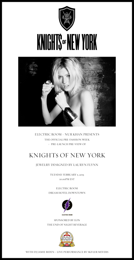 SERIOUS REPRESENTATION HTOWN KNIGHT$ OF NEW YORK BY LAURYN FLYNN FASHION WEEK PRE-LAUNCH AT ELECTRIC ROOM AT DREAM DOWNTOWN